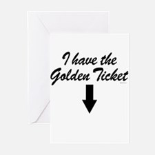 I have the golden ticket Greeting Cards (Pk of 20)