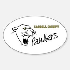 Panther Oval Decal
