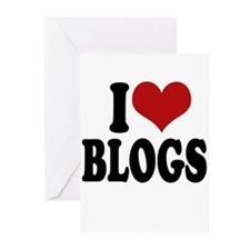 I Love Blogs ~ Greeting Cards (Pk of 20)