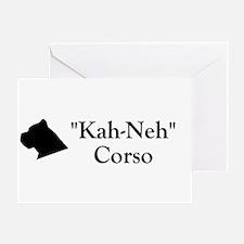 Kah Ney Corso Greeting Card