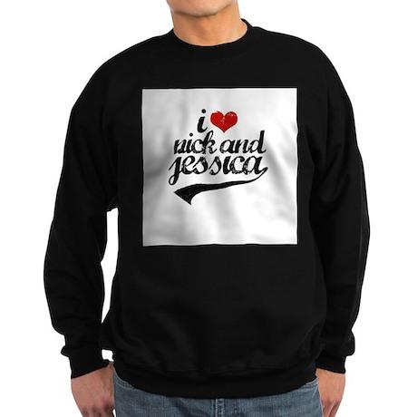 I Love Nick & Jessica ~ Sweatshirt (dark)