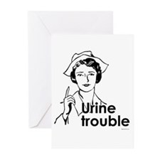Urine Trouble ~ Greeting Cards (Pk of 20)