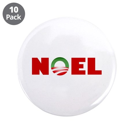 "NOEL 3.5"" Button (10 pack)"