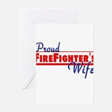 Proud Firefighter's Wife Greeting Cards (Pk of 10)