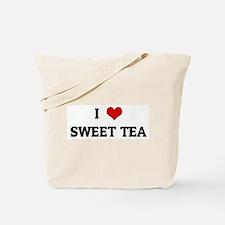 I Love SWEET TEA Tote Bag