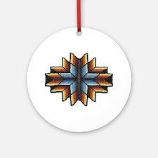 Beaded Tribal Starburst Ornament (Round)