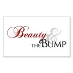 Beauty & The Bump Rectangle Sticker 10 pk)