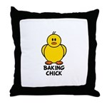 Baking Chick Throw Pillow