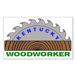 Ky Woodworker Rectangle Sticker