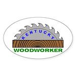 Ky Woodworker Oval Sticker