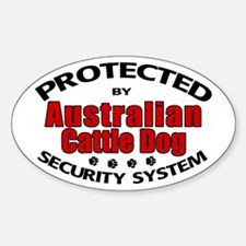 Australian Cattle Dog Security Oval Decal