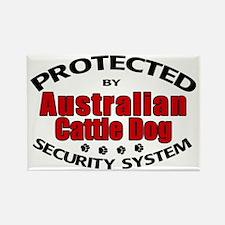 Australian Cattle Dog Security Rectangle Magnet