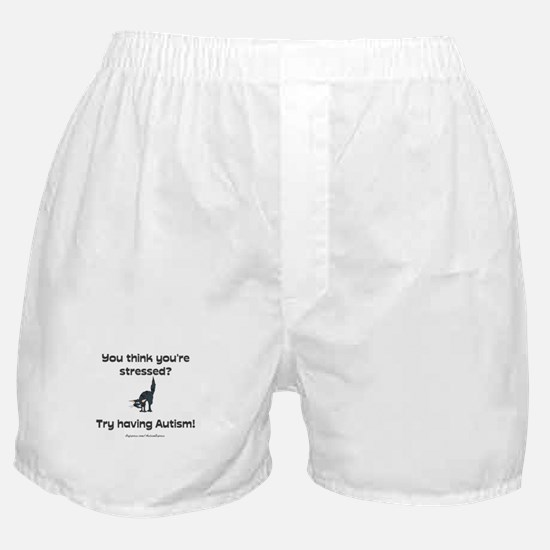 Autism Stress (cat) Boxer Shorts