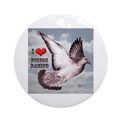Love Pigeon Racing Ornament (Round)
