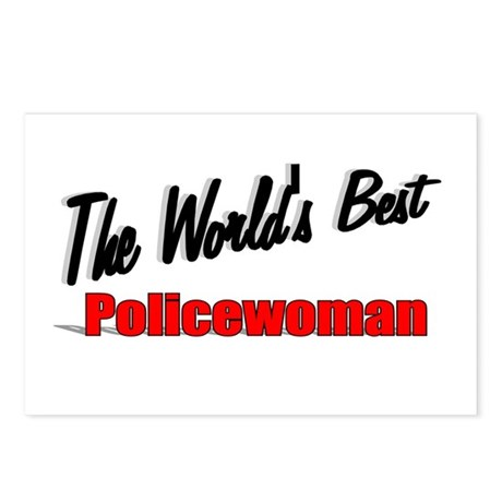 """The World's Best Policewoman"" Postcards (Package"