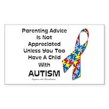 Parenting Autism (advice) Rectangle Decal