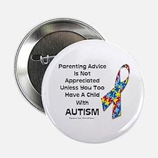 "Parenting Autism (advice) 2.25"" Button (10 pack)"