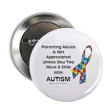 """Parenting Autism (advice) 2.25"""" Button"""