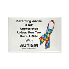 Parenting Autism (advice) Rectangle Magnet