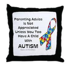 Parenting Autism (advice) Throw Pillow