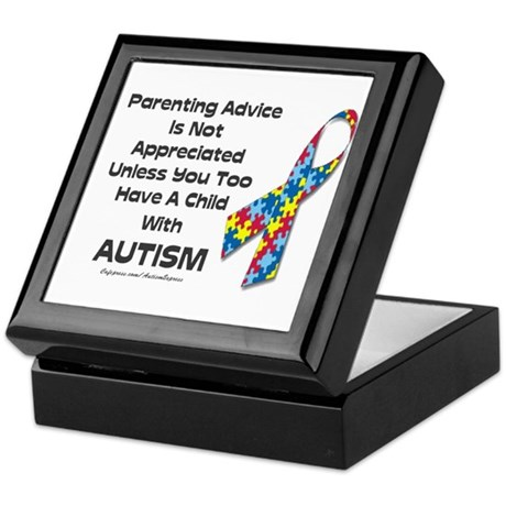 Parenting Autism (advice) Keepsake Box