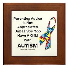 Parenting Autism (advice) Framed Tile