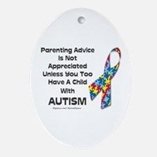 Parenting Autism (advice) Oval Ornament