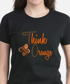 Think Orange 1 Butterfly 2 Tee