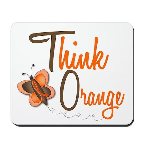 Think Orange 1 Butterfly 2 Mousepad