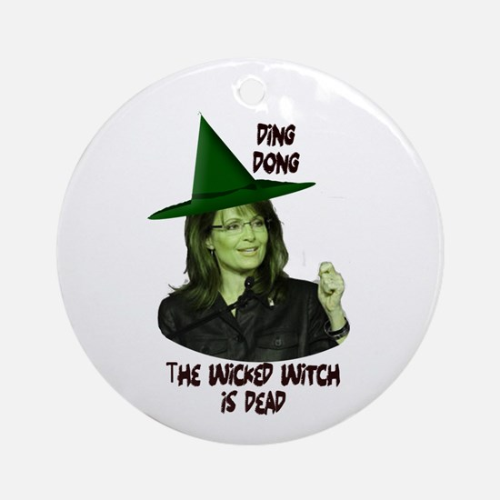Palin Wicked Witch Ornament (Round)