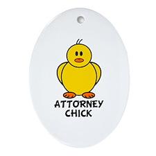 Attorney Chick Oval Ornament