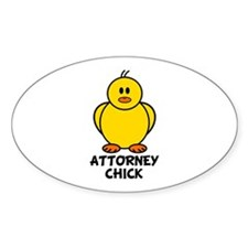 Attorney Chick Oval Decal