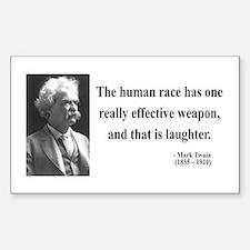 Mark Twain 44 Rectangle Decal