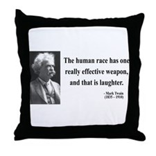 Mark Twain 44 Throw Pillow