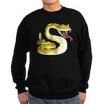 Rattlesnake Snake Tattoo Art Sweatshirt (dark)