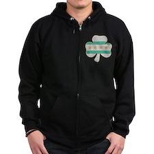 Irish Chicago flag shamrock Zip Hoodie