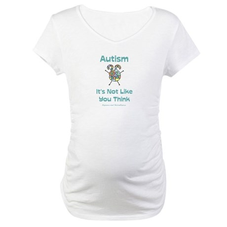 Autism Think Maternity T-Shirt