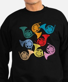 Colorful French Horns Sweatshirt