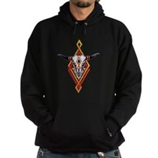 Old Cattle Skull Tattoo Hoodie
