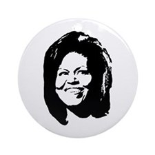 Michelle Obama Ornament (Round)