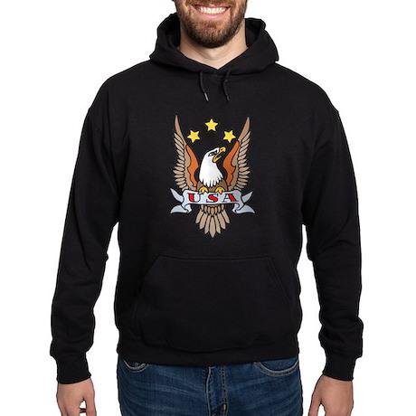 USA Patriotic Eagle Tattoo Hoodie (dark)