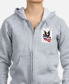 Freedom Eagle Flag Tattoo Zip Hoodie