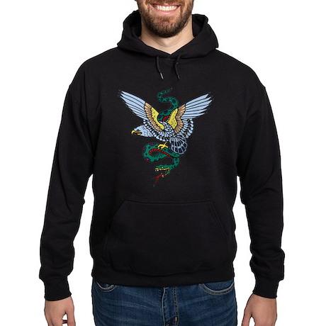 Eagle Snake Military Tattoo Hoodie (dark)