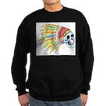 Indian Chief Skull Tattoo Sweatshirt (dark)