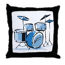 Drum Set Drums Throw Pillow