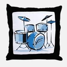 Drum Set Drums Throw Pillow