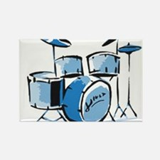 Drum Set Drums Rectangle Magnet