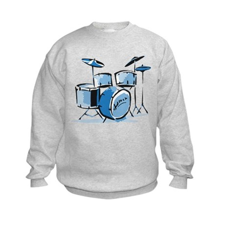 Drum Set Drums Kids Sweatshirt