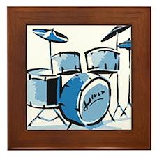 Drum Set Drums Framed Tile