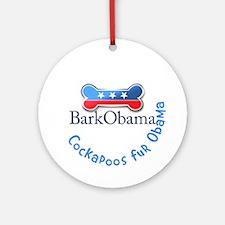 Cockapoos fur Obama Ornament (Round)